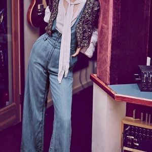 Free People Chambray Jumpsuit